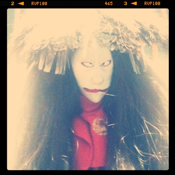 Marionnette de spectacle japonais traditionnel Joruri