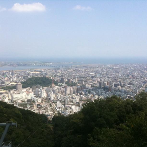 Tokushima vu d'en haut !