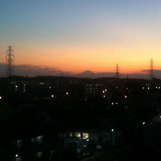 L'ombre du Fuji san pour conclure la journée !