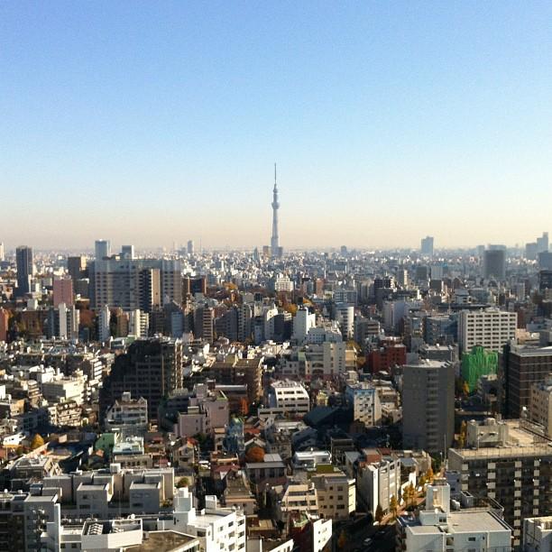 Vue sympa sur la Tokyo Sky Tree !