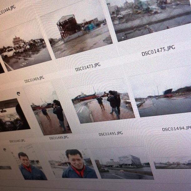 Le tri de mes photos sur les ravages du tsunami encore présent aujourd'hui à fait craquer le Mac, qui a planté…
