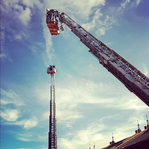 Et qui dit pompier, dit grande échelle !