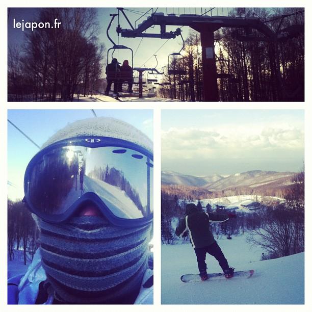 Fin de journée ski à Sapporo Teine… Je suis mort…….