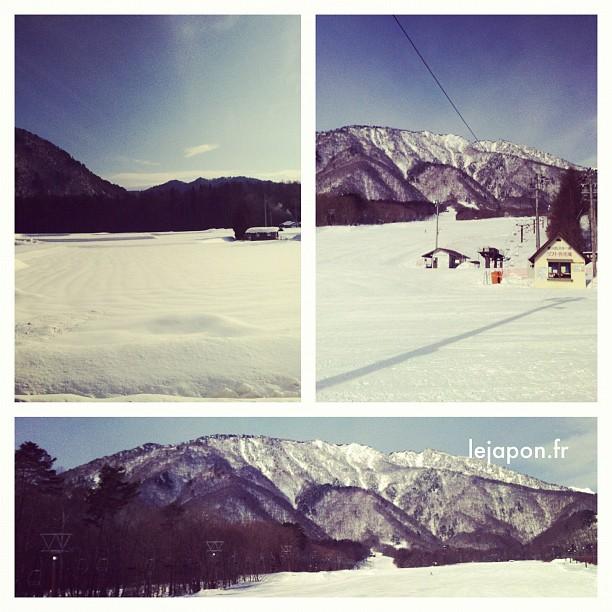 Station de ski Jiigatake dans les montagnes de Omachi a des faux airs de station fantôme…