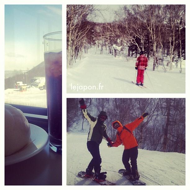 Piste noir pour ma 1er fois en ski… Merci @daniel_vlj ! Sapporo Teine