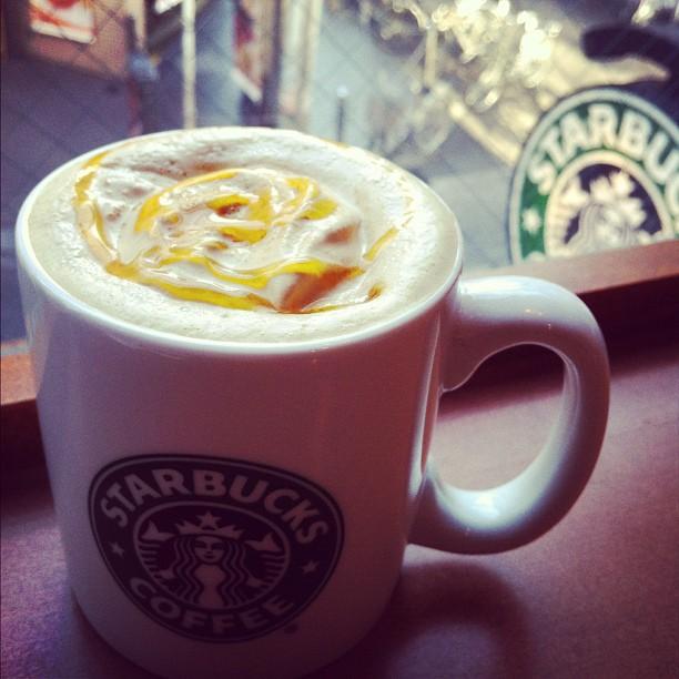 Orange Brûlée Latte chez Starbucks en ce moment au Japon. Pas mauvais…