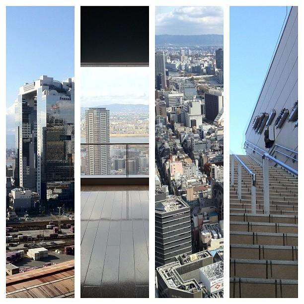 Aujourd'hui c'était trekking urbain sur les toits d'Osaka à la recherche des meilleurs spots photo ! #japan #japon #kansai #osaka #urban #igersosaka