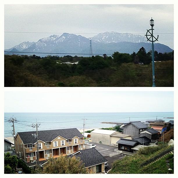 Au Japon, la mer fait parfois face à des monts enneigés