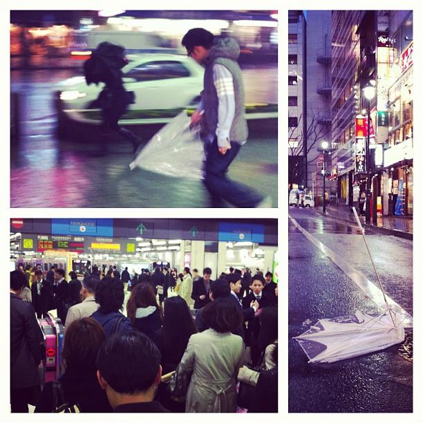 Le vent souffle très fort sur Tokyo… Je sent que je vais rester bloqué à Shibuya…