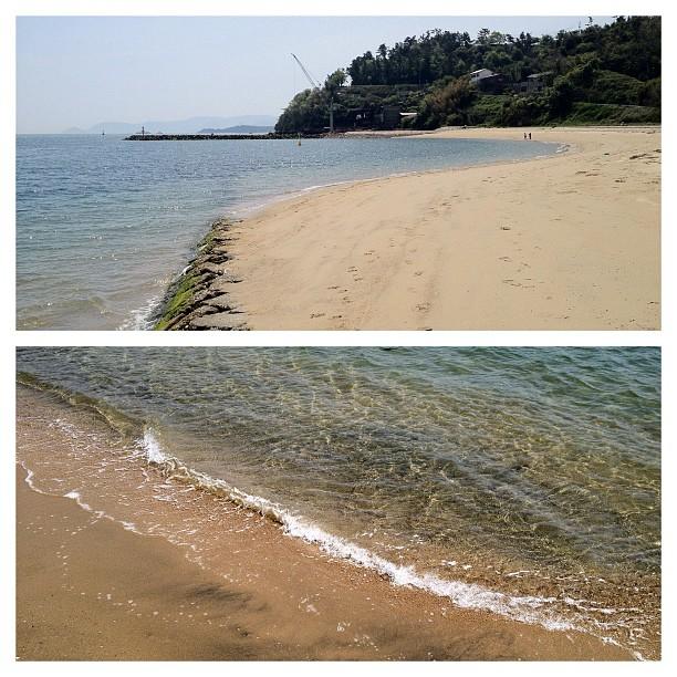 Détour par une petite plage de la mer intérieure
