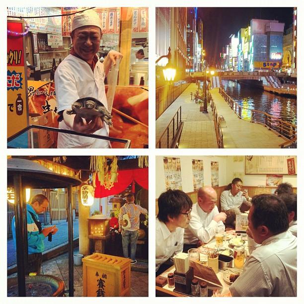 Osaka Safari terminé avec une dégustation de kushikatsu. Du vrai Osaka Style (^_^)