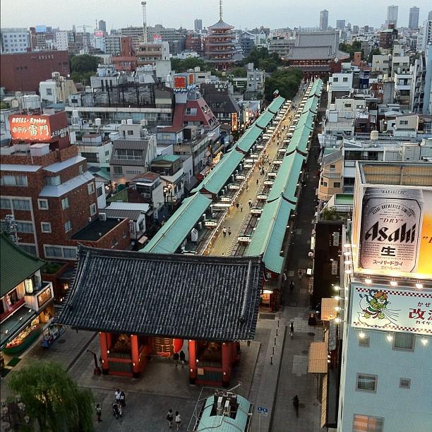 Le côté temple Sensoji vu du ciel est pas mal aussi !