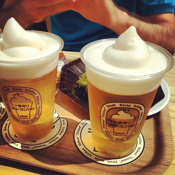 Glace + Bière = Frozen Beer ! Avec @daniel_vlj @elliatab