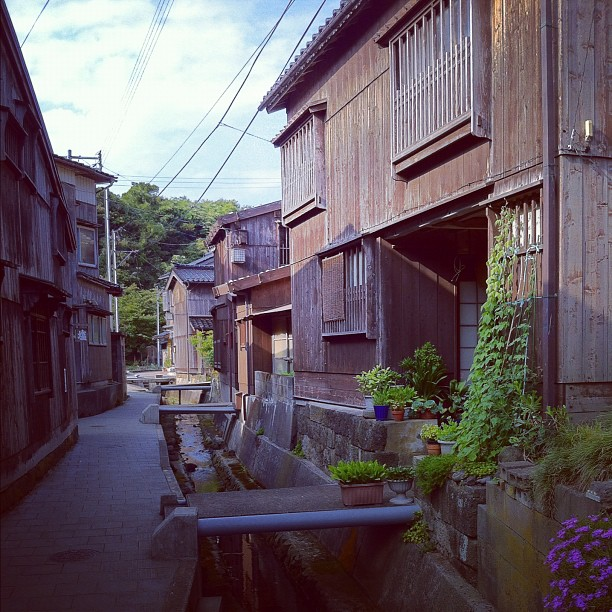Un peu déçu par le tout petit village Shukunegi… Quelques maisons en bois et c'est tout…