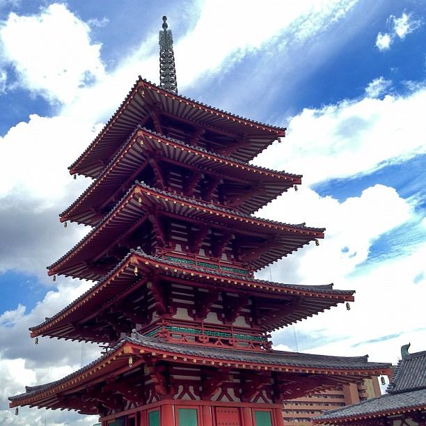 La pagode du Shi-Tennoji, plus vieux temple bouddhiste du Japon