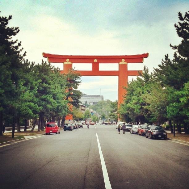 Le grand Torii du sanctuaire Heian