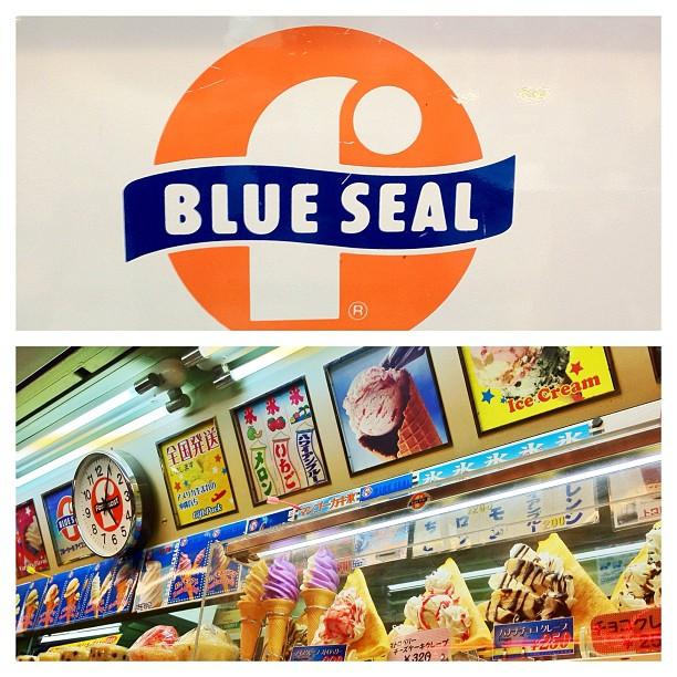 Impossible de passer à côté des Blue Seal Ice Cream