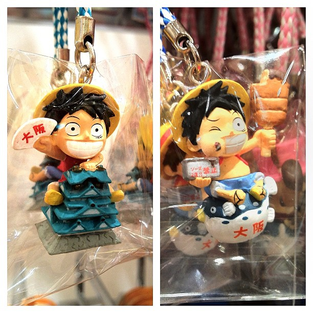 Souvenirs du dernier passage de Luffy à Osaka