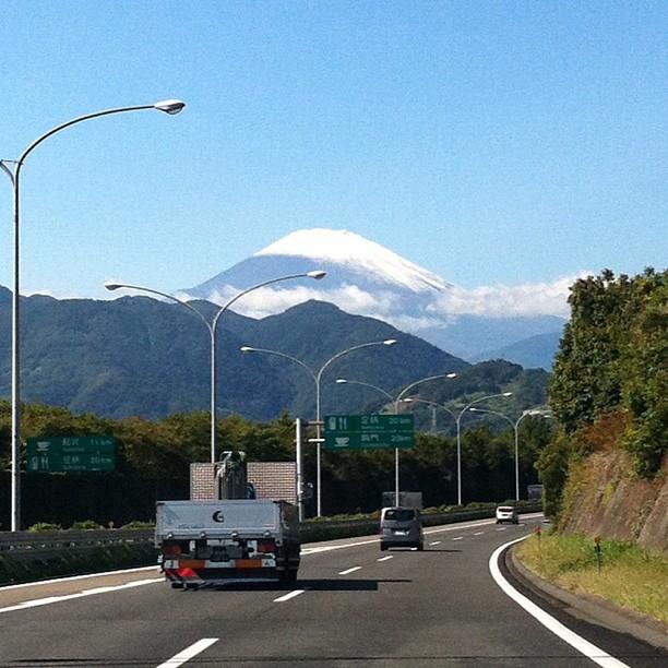 #fujireport : Ah on le voit mieux de près ! Mais l'automne n'est pas encore là !