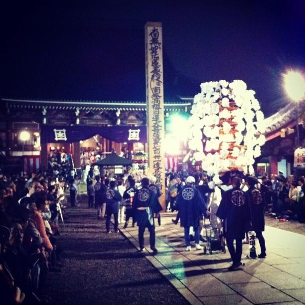 Passage au temple version Matsuri nocturne !