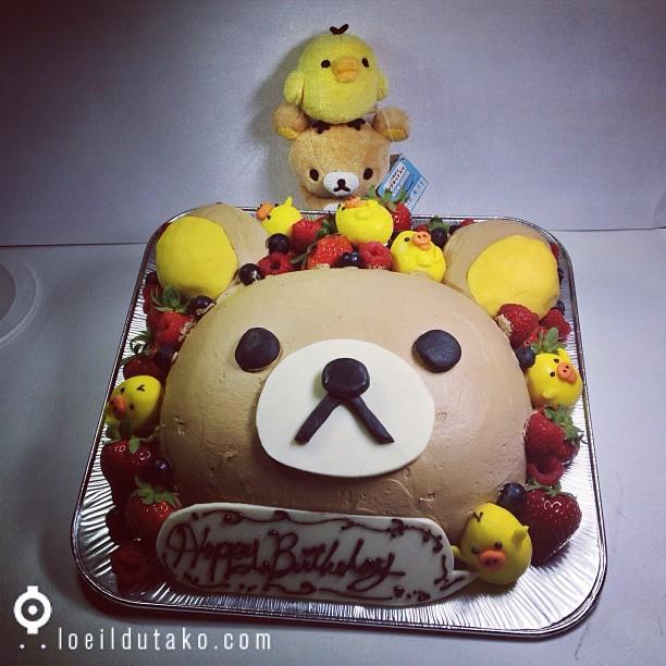 Mon gâteau d'anniversaire :D Rirakkuma et Kiiroitori !!