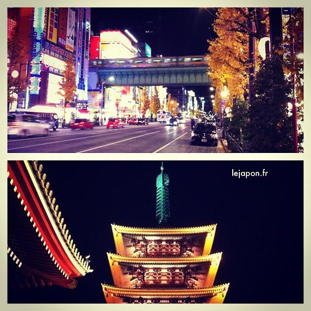 En 2 stations (Tsukuba Express) on passe d'Akihabara à Asakusa… La magie de Tokyo ;-)