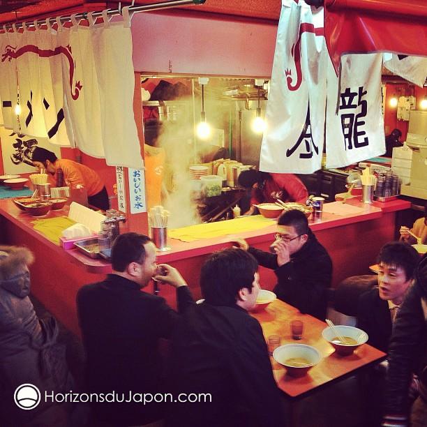 Chez Kinryu on peut manger des Ramen 24h sur 24 (dans la rue) ^^