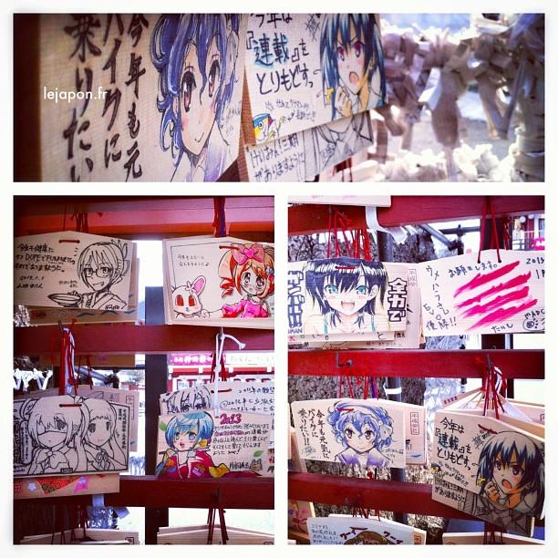 Les Ema (plaquettes de vœux) version 2013 sont un bon cru du côté d'Akiba !