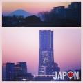 Bonne nuit depuis Yokohama avec le Fuji et le LandMark !