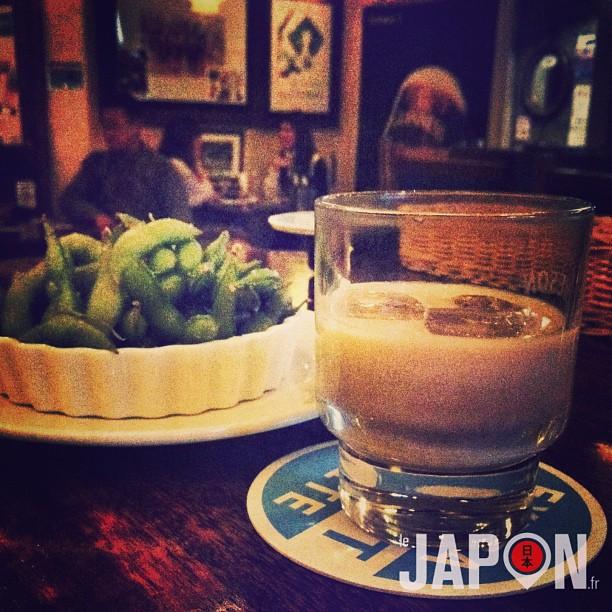 Baileys avec des Edamame… Pas de doute, je suis dans un Pub Irlandais au Japon !