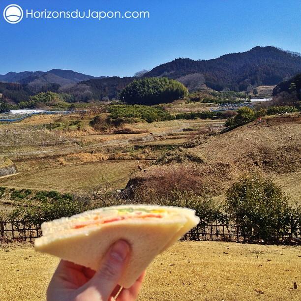 Aujourd'hui à midi c'était casse-croûte en pleine campagne japonaise