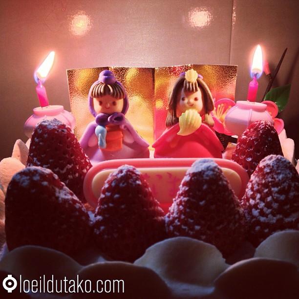 Hina Matsuri la fête des petites filles japonaises au milieu des fraises :)
