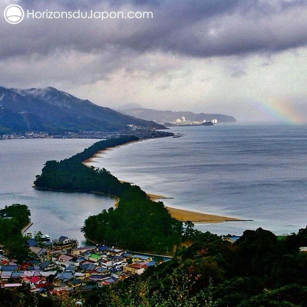 La célèbre vue sur Amanohashidate