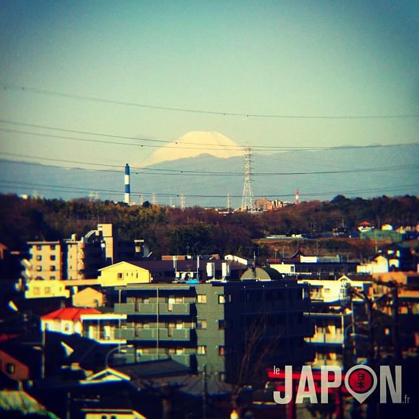 #fujireport : belle vue sur le Fuji ce matin. Direction Tokyo pour faire un #sakurareport ;)