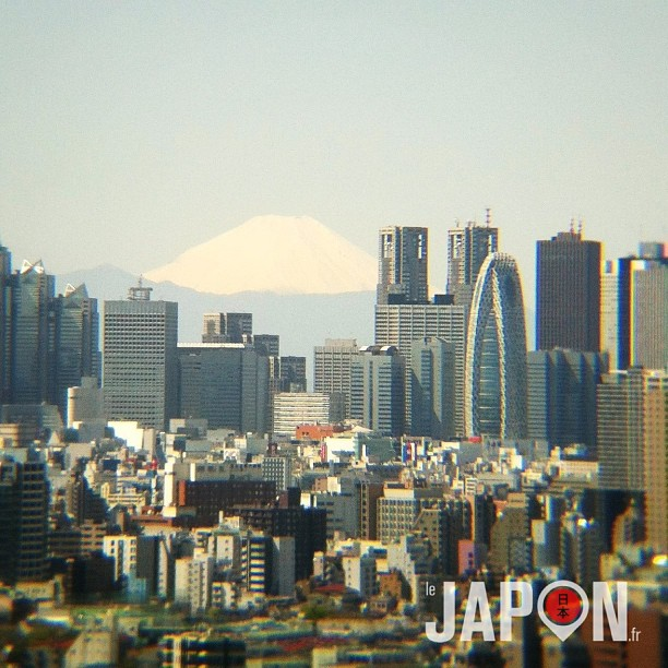 #fujireport : ça faisait longtemps… Conditions météo parfaites pour voir le Fuji aujourd'hui !