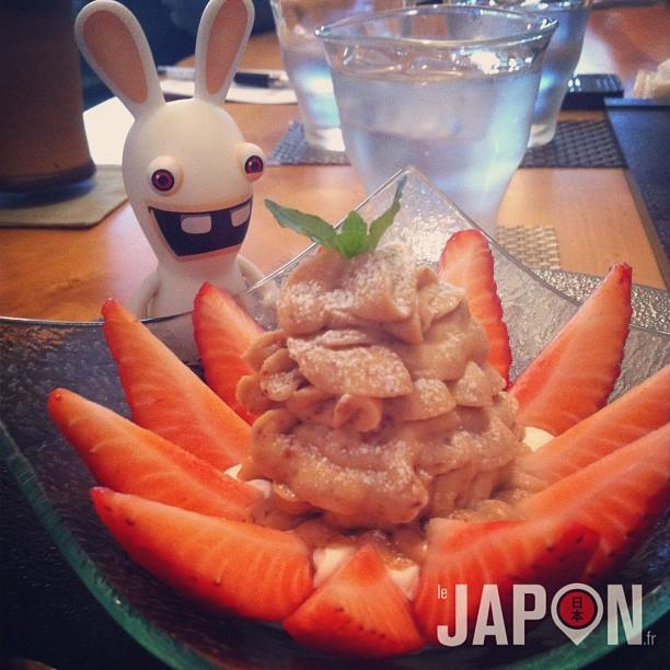 Un bon p tit dessert la cr me de marron et bio approuv par lapin cr tin japon 365 - Dessert a la creme de marron ...