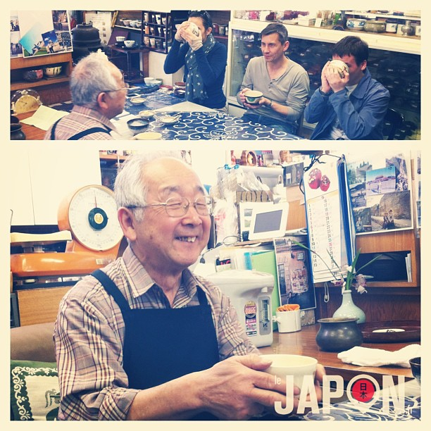 Hiro san est le plus fantastique vendeur de thé de Tokyo, et c'est toujours un plaisir de le voir ! Cc @Melle_The