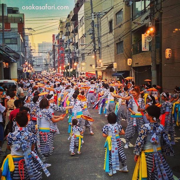 1er jour de la Tenjin Matsuri d'Osaka