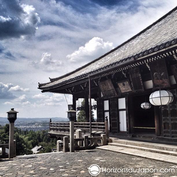 J'aime bien me balader autour du Nigatsudo à Nara