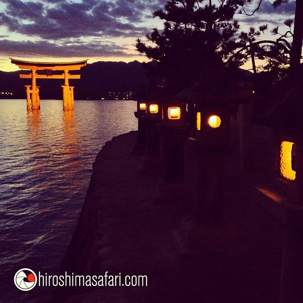 La nuit tombe sur l'une des trois plus belle vue du Japon.