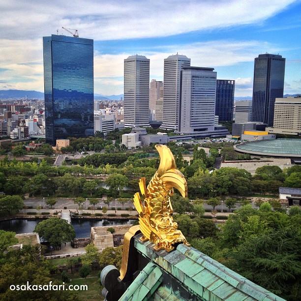 Si vous voulez prendre la même photo, il va falloir entrer dans le château d'Osaka