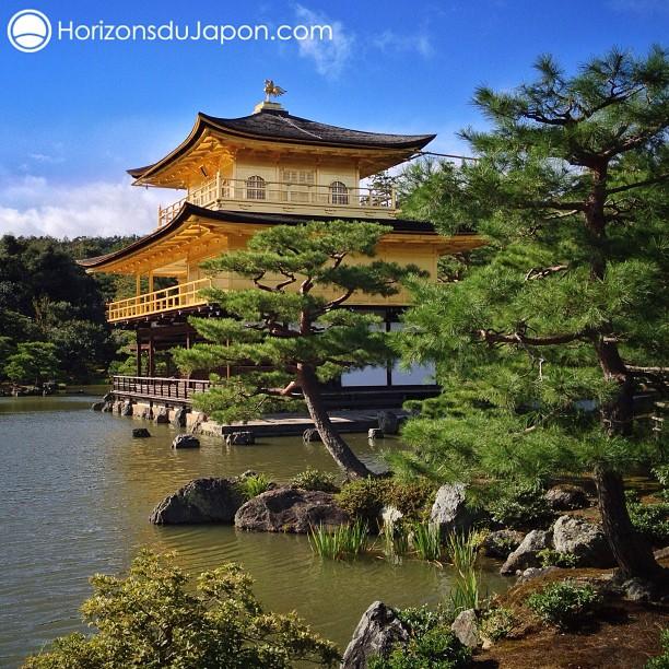 Jolie lumière post-typhon sur le Pavillon d'or
