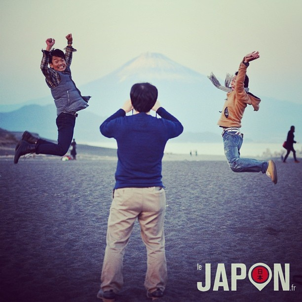 Motoki San et ses amis font Jump devant le Fuji San !