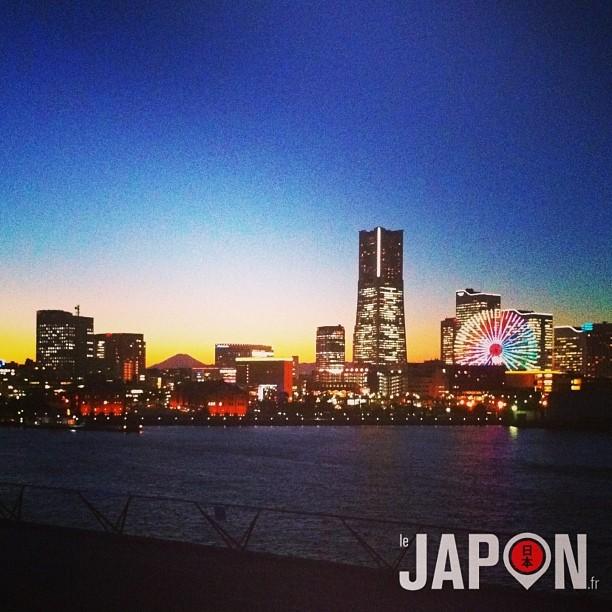 #fujireport : superbe vue ce soir du Fuji pendant un Yokohama Safari !