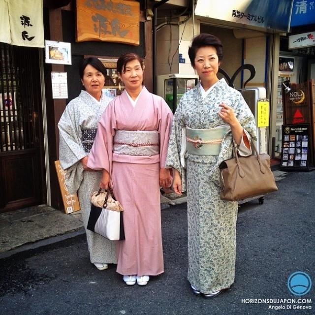 On aperçoit régulièrement des Japonaises en Kimono aussi à Osaka