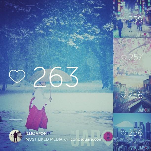 Merci pour m'avoir suivit en 2014 sur Instagram, Tweeter, Facebook et http://japon365.com ! Merci pour tous vos «like» & com'