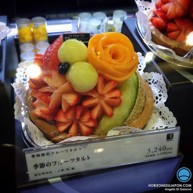 Au Japon, les tartes aux fruits ressemblent parfois à des œuvres d'art !