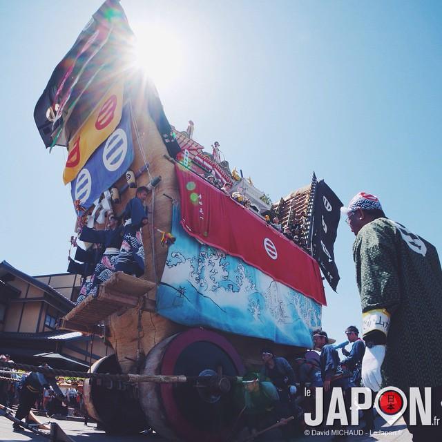 L'impressionnant char du Seihakusai Matsuri dans la petite ville de Nanao !