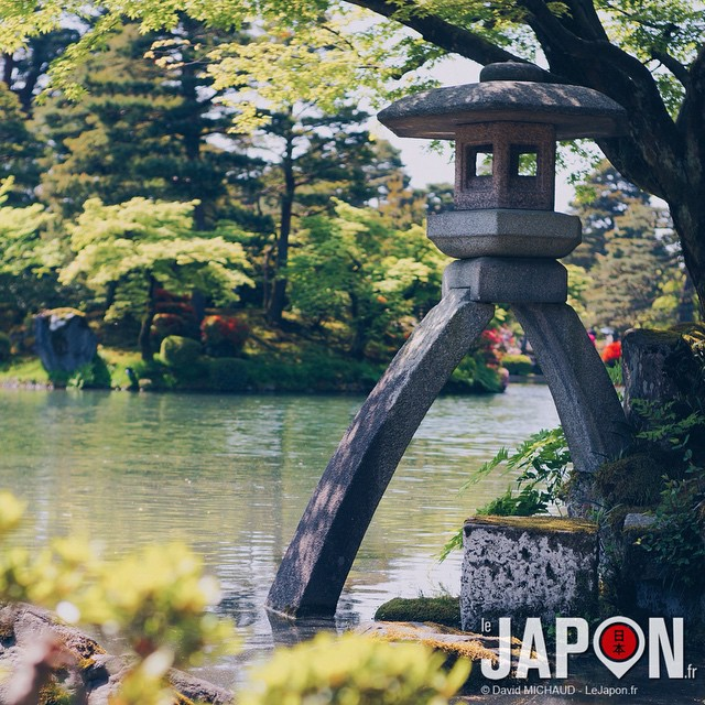 Une petite dernière pour Kanazawa avec la célèbre lanterne du joli jardin Kenrokuen ! #kanazawa