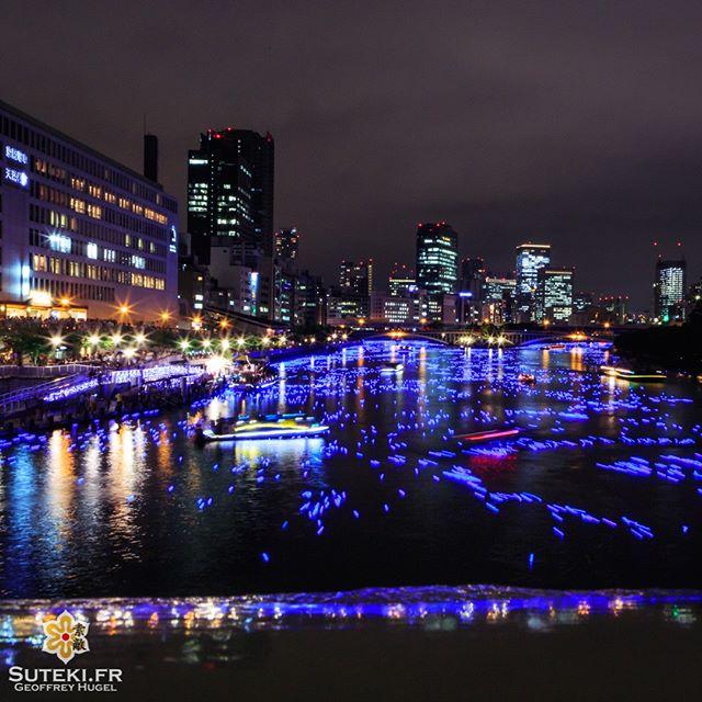 Des milliers d'étoiles sur la rivière Okawa pour Tanabata.